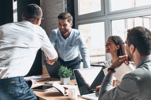 crescimento do varejo - reunião de negócios